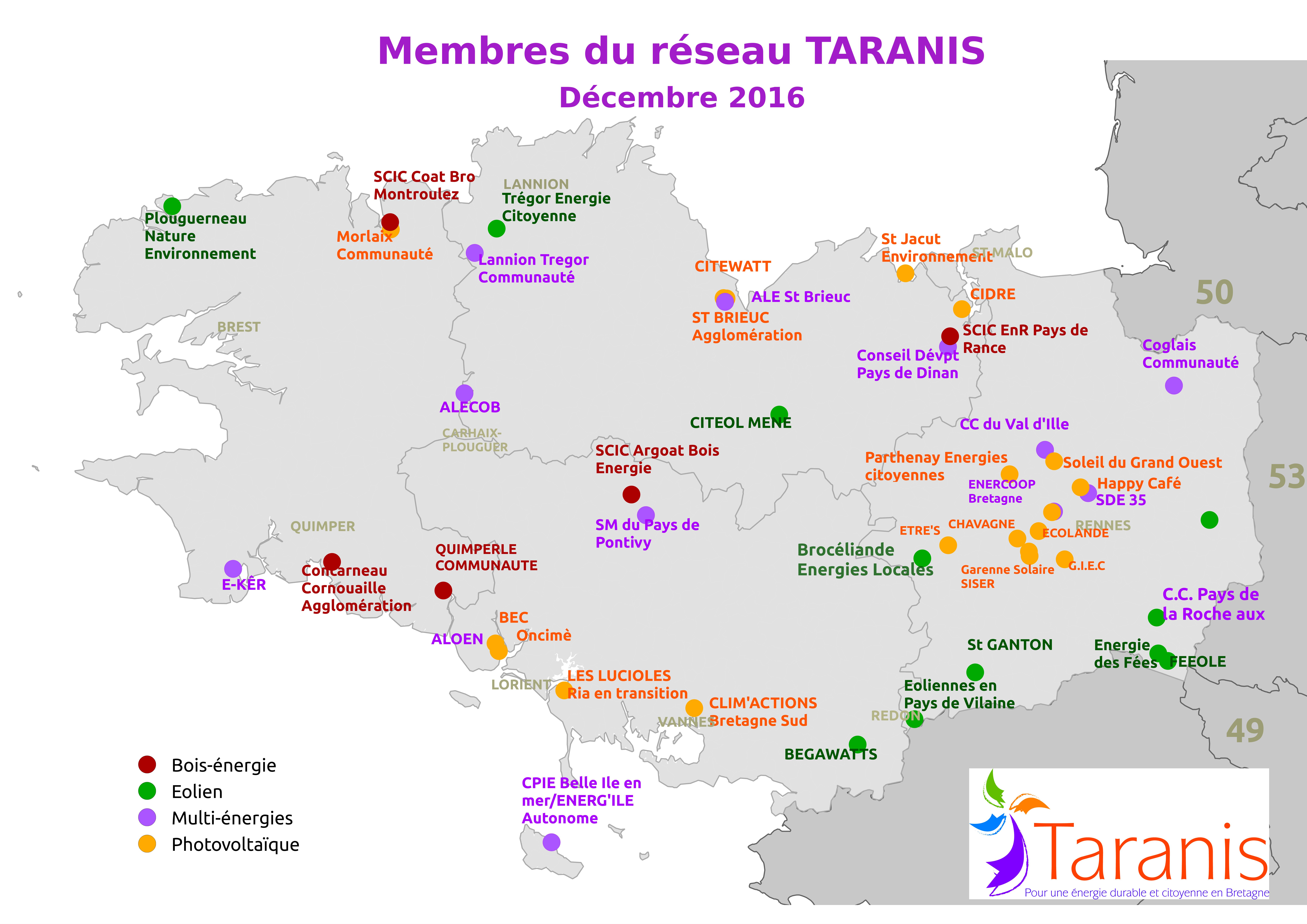 Le réseau Taranis, pour des énergies renouvelables et citoyennes