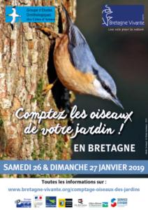 Comptage régional des oiseaux des jardins en 2019 : les 26 et 27 janvier 2019 !