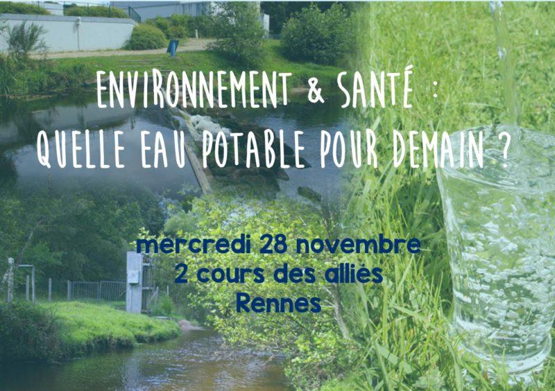 Environnement, santé, changement climatique et eau potable au menu du colloque régional d'Eau et Rivières de Bretagne