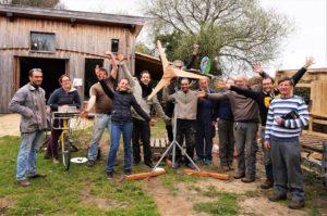 Pleumeur-Bodou, Stage auto-construction d'une éolienne piggot @ EcoCentre Trégor