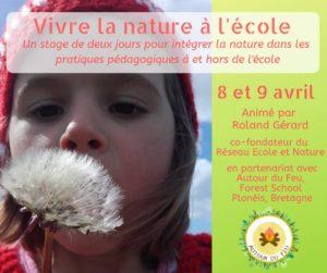 Plonéis, Vivre la nature à l'école @ Autour du Feu