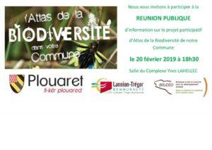 Plouaret, Atlas participatif de la Biodiversité @ Salle du Complexe Yves Lahellec