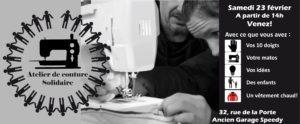 Brest, Atelier de couture solidaire @ 32, rue de la Porte