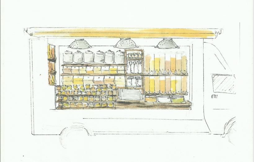 Les P'tites Graines, une épicerie ambulante finistérienne de vente en vrac
