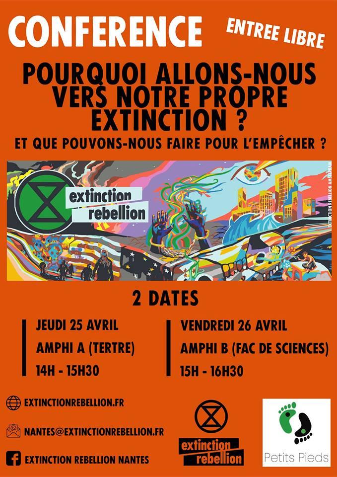 Nantes (44), Conférence Extinction Rebellion