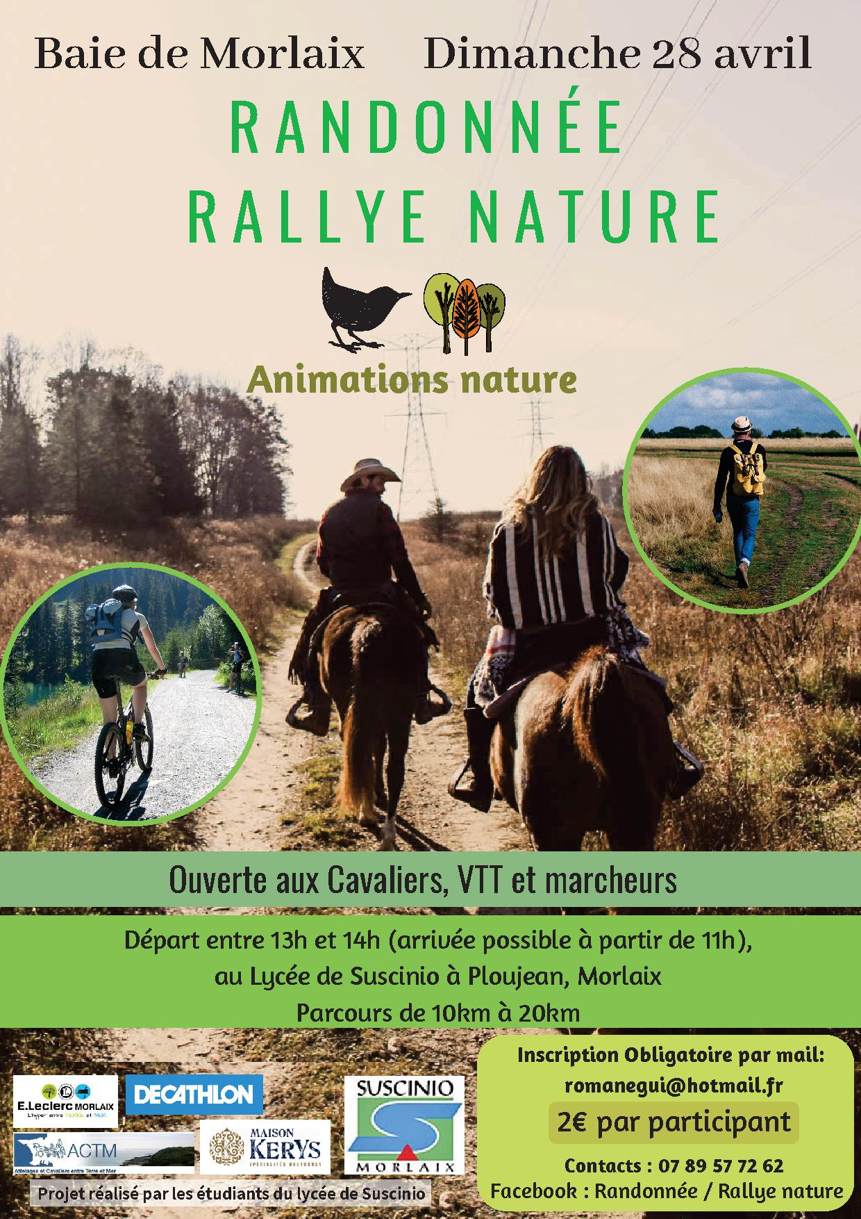 «Randonnée Rallye-Nature» dimanche 28 avril