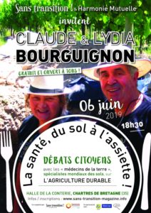 """Chartres de Bretagne (35), Claude et Lydia Bourguignon en conférence : """"Le sol peut retrouver sa fertilité !"""" @ Halle de la Conterie"""