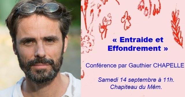 Rennes (35),  «Entraide et effondrement» – Conférence Gauthier Chapelle
