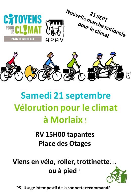 Morlaix (29), Marche pour le Climat