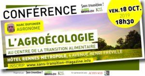 Rennes (35), Conférence M. Dufumier : L'agroécologie au centre de la transition alimentaire @ Hôtel Rennes Métropole