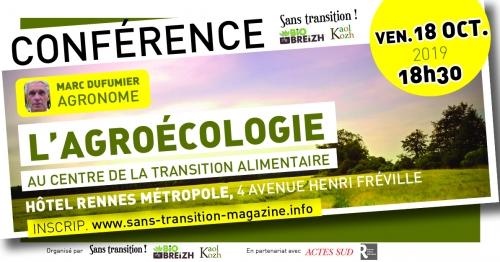 Rennes (35), Conférence M. Dufumier : L'agroécologie au centre de la transition alimentaire