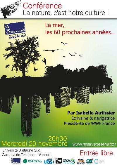 Vannes (56), Conférence I. Autissier : «La mer, les 60 prochaines années»