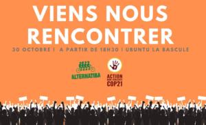Rennes (35) Alternatiba & Action Non-Violente COP21 : Accueil des nouveaux @ Ubuntu la Bascule (café associatif)