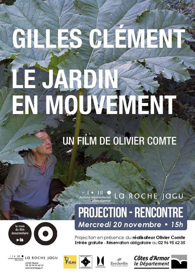 Ploézal (22), Gilles Clément Le jardin en mouvement – Projection-Rencontre