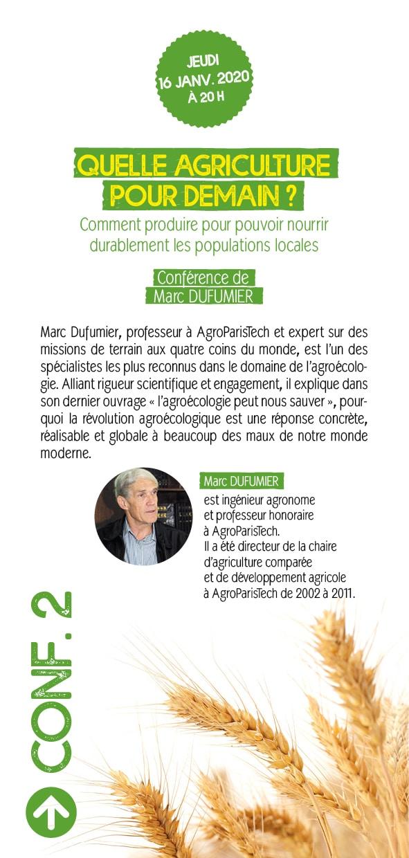 Châteaulin (29), Quelle agriculture pour demain ? Conférence Marc Dufumier