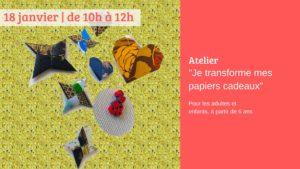 Brest (29), Je transforme mes papiers cadeaux/atelier @ Librairie- papeterie Dialogues