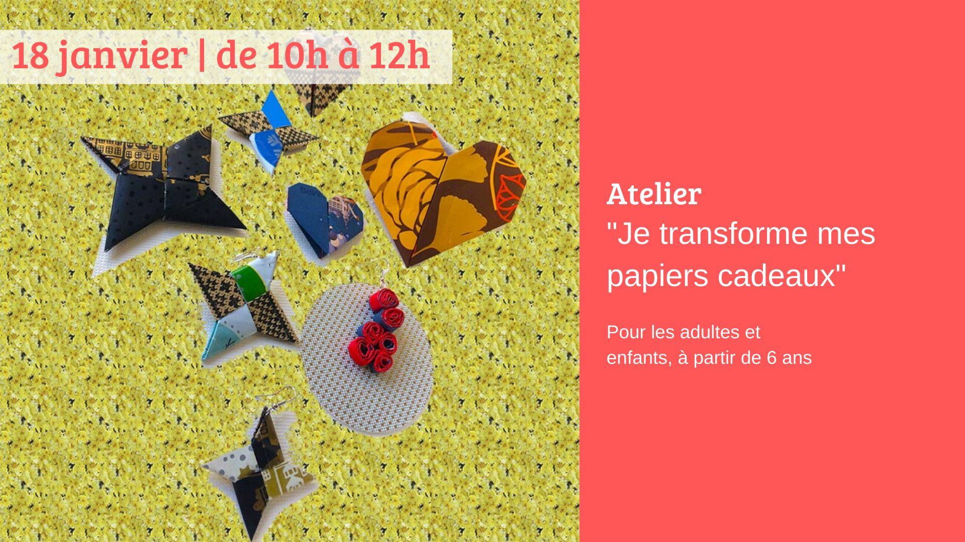 Brest (29), Je transforme mes papiers cadeaux/atelier