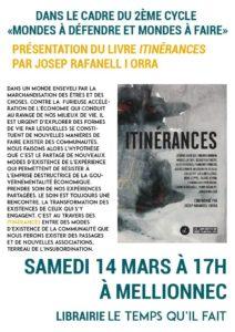 Mellionnec (22), Itinérances : Rencontre avec Josep Rafanell I Orra @ Librairie-Café Le temps qu'il fait