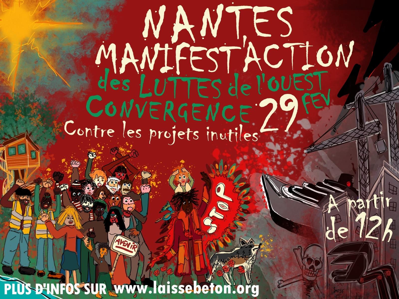 Nantes (44), MANIFEST'ACTION contre LES PROJETS INUTILES DE L'OUEST !