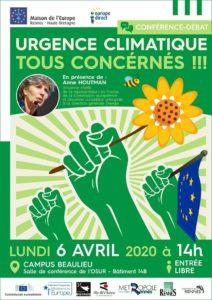 Rennes (35) - Urgence climatique : tous concernés ! @ Observatoire des Sciences de l'Univers de Rennes