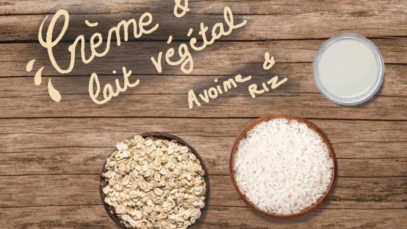 Crème/lait de riz et d'avoine : végétal et zéro déchet !