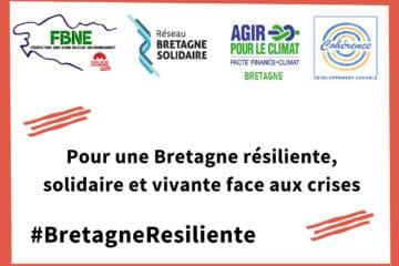 Pour une Bretagne résiliente: Les associations environnementales bretonnes interpellent les élus