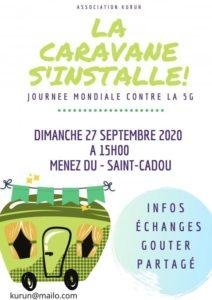 Saint-Cadou (29), Rassemblement festif contre la 5G @ Colline du Menez Du