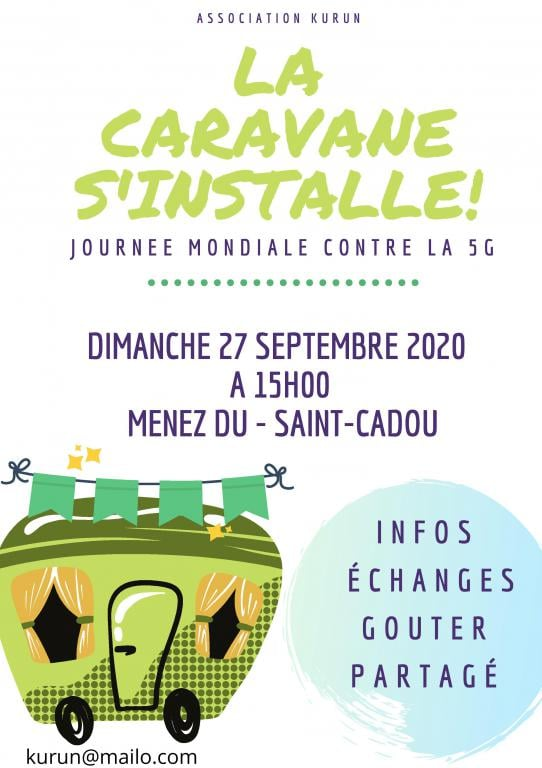 Saint-Cadou (29), Rassemblement festif contre la 5G