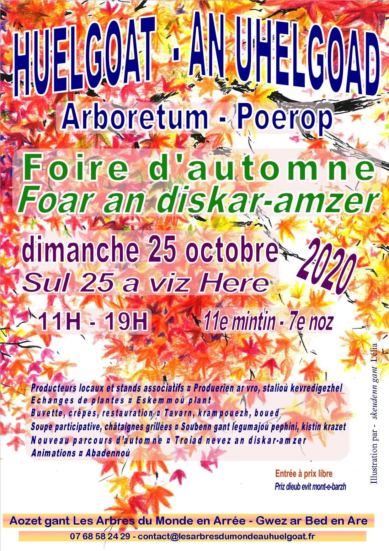 Huelgoat (29), foire d'automne Les Arbres du Monde au Huelgoat