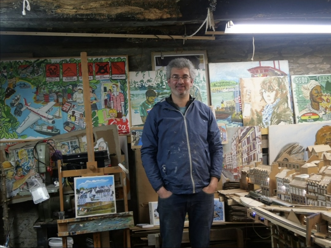 Charles Vergnolle et ses tableaux