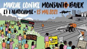 Lorient (56), Marche POUR le respect du Vivant CONTRE Bayer-Monsanto @ Mairie de Lorient