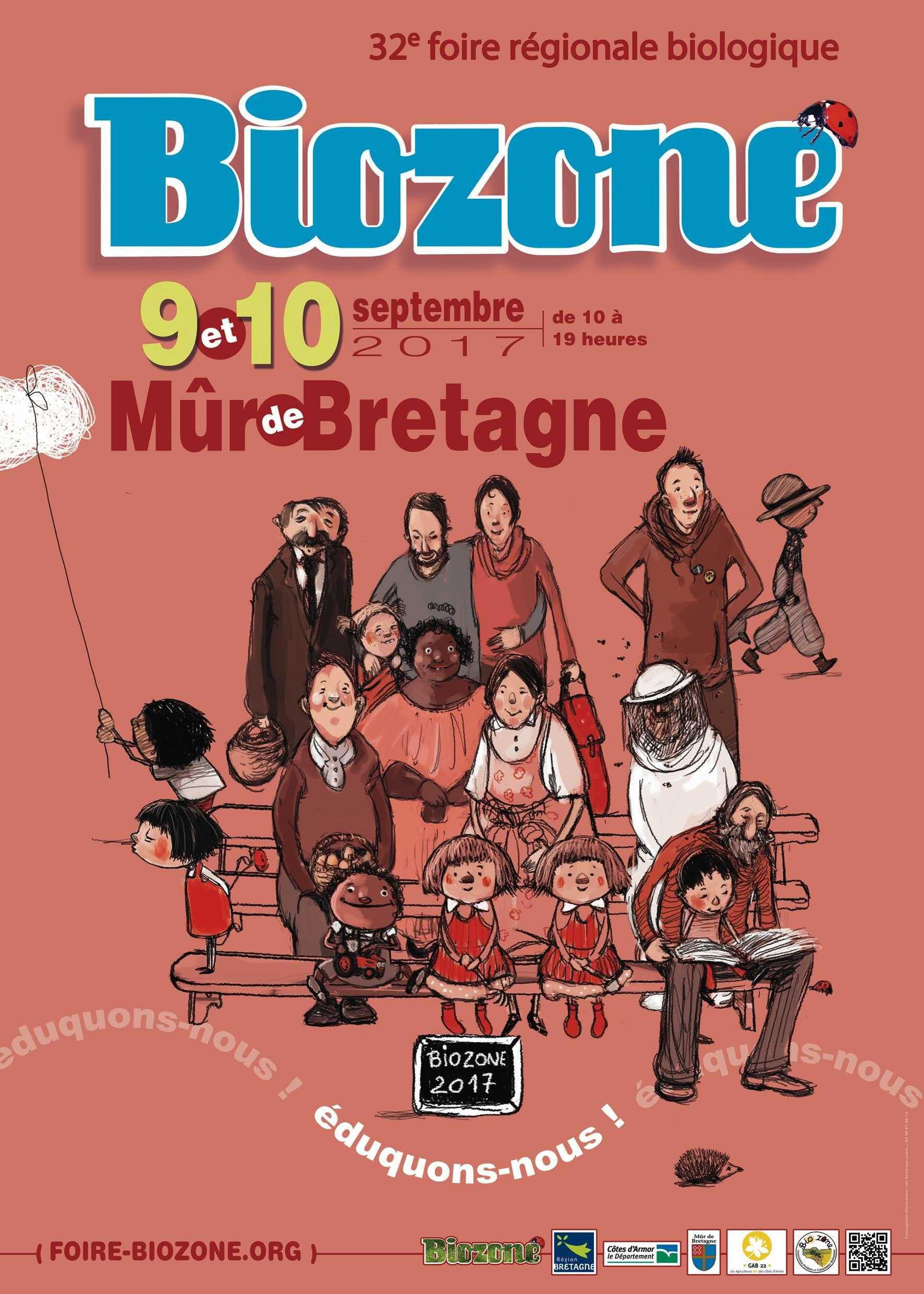 Foire Biozone, 32ème foire biologique à Mûr de Bretagne