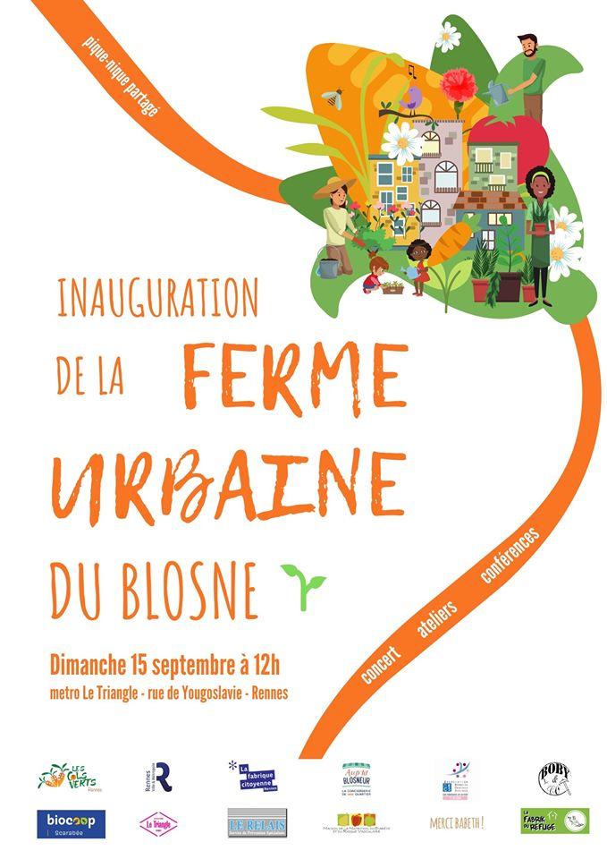 Rennes. Inauguration de la ferme urbaine du Blosne le dimanche 15 septembre!