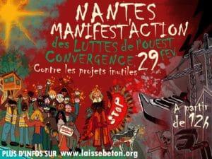 Nantes (44), MANIFEST'ACTION contre LES PROJETS INUTILES DE L'OUEST ! @ Miroir d'eau