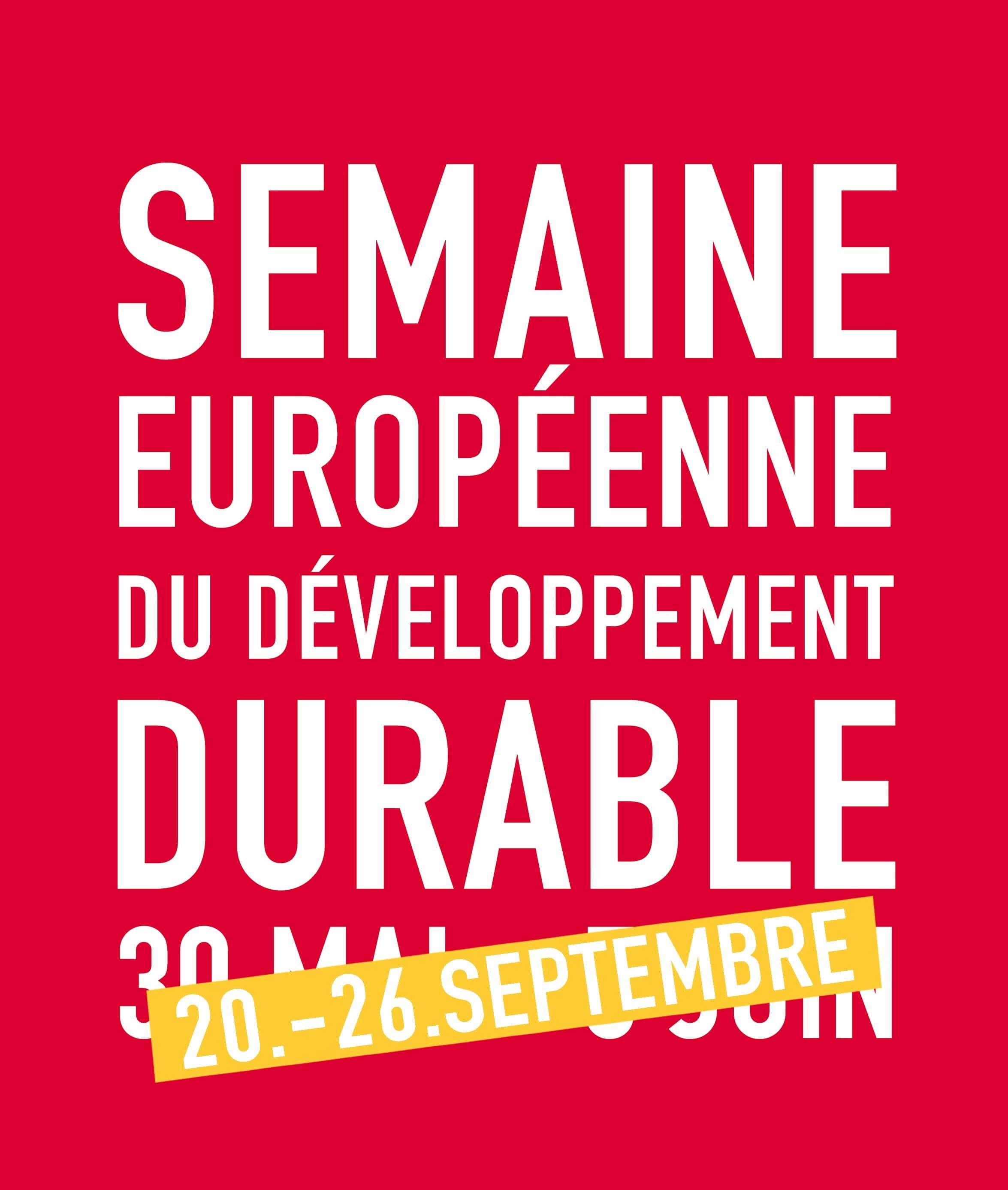 En route pour la Semaine Européenne du Développement Durable !