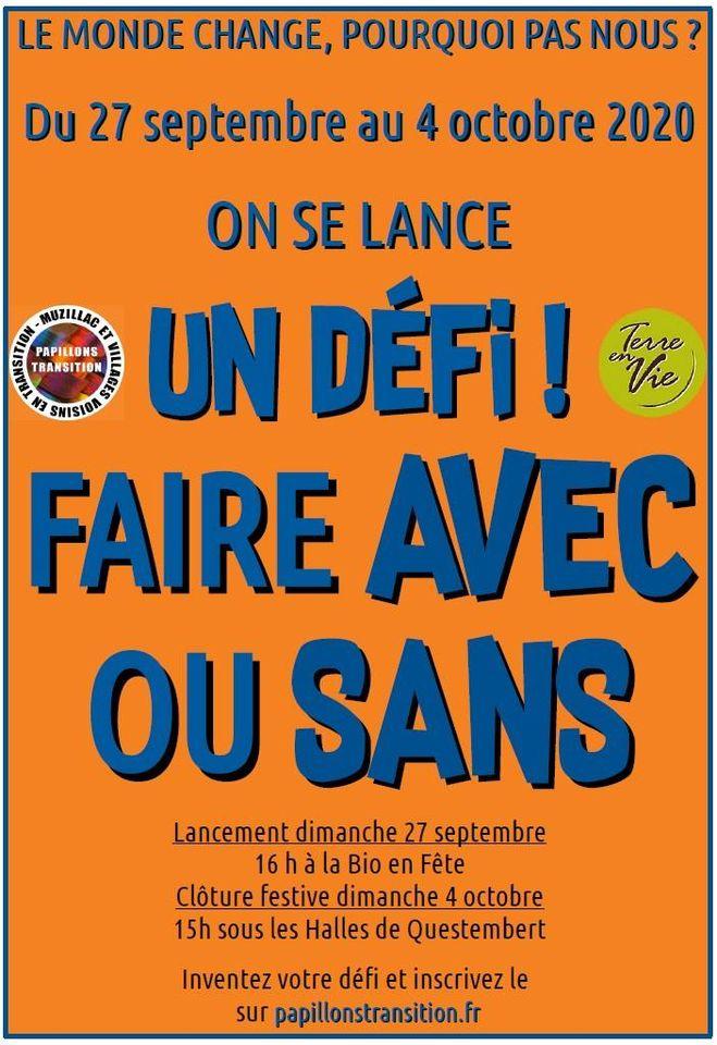 Morbihan: participez à la semaine de défis «Avec ou Sans»
