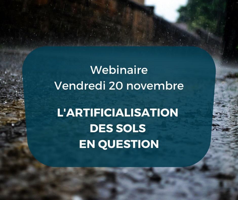 L'artificialisation des sols en question – webinaire