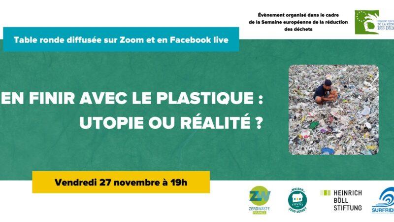 [EN LIGNE] Conférence : En finir avec le plastique, utopie ou réalité ?