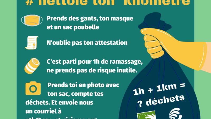 #NettoieTonKilomètre, le défi de l'association Eau & Rivières