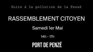 Taulé (29), Rassemblement citoyen suite à la pollution au lisier de la Penzé @ Port de Penzé