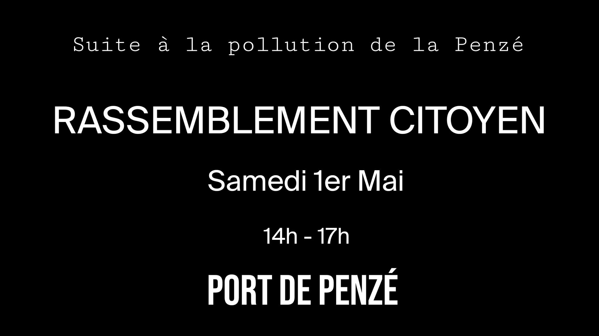 Taulé (29), Rassemblement citoyen suite à la pollution au lisier de la Penzé