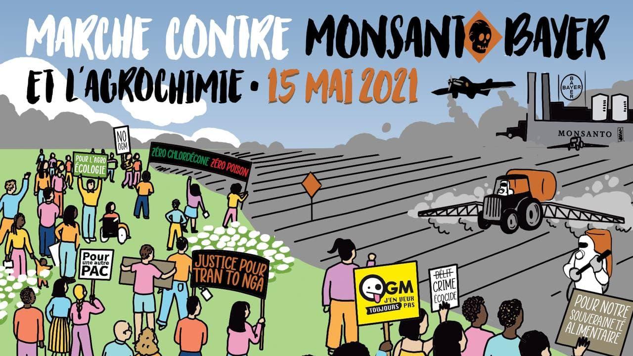 Lorient (56), Marche POUR le respect du Vivant CONTRE Bayer-Monsanto