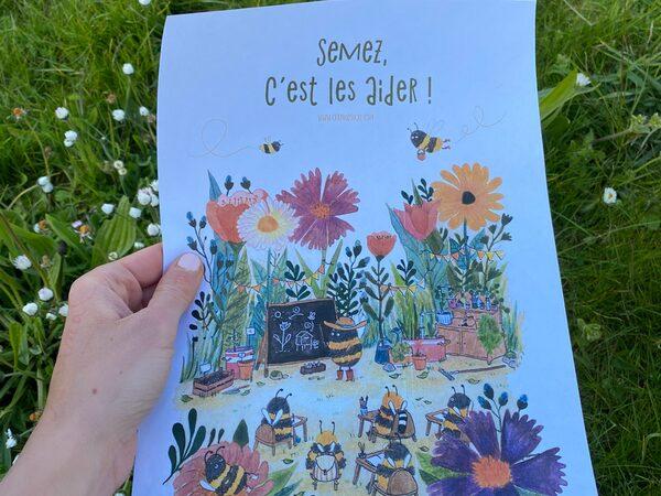 Avec ses livres, Anne-Sophie veut faire le buzz autour des abeilles