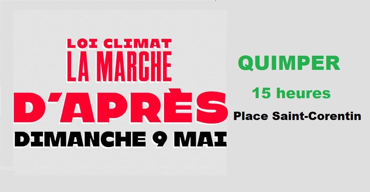 Quimper (29), Loi climat : la marche d'Après