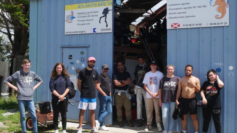Premier jour à Crozon et découverte des fonds marins pour les jeunes du projet «D'une mer à l'autre» !
